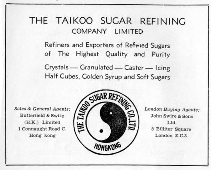 Taikoo Sugar Refining Co Ltd-manufacturer-advert-1953