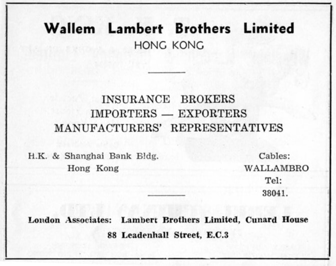Wallem Lambert Brothers Ltd-agent-advert-1953