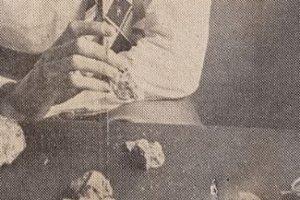 WB Harris Examining Quartz Containing Beryl Tymon Mellor