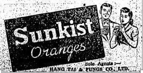 Hang Tai & Fungs Co Ltd Detail Advert HK Sunday Herald 29.10.1950