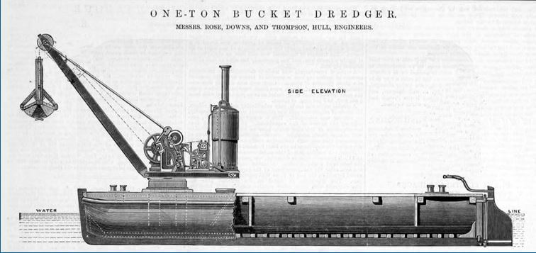 Rose, Downs And Thompson Grace's Guides 1882 Bucket Dredger Advert
