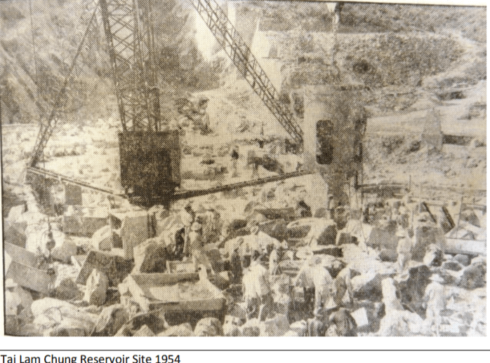 Quarrying In Hk Since World War Two Lord Wilson Heritage Trust Photo 4 Tai Lam Chung Reservoir 1954