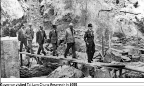 Tai Lam Chung Reservoir IDJ Governor's Visit In 1955 Quarrying In Hk AFTER WW2