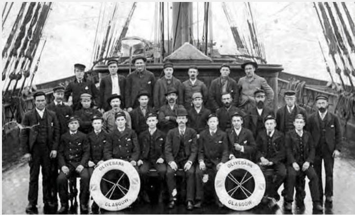 Bank Line, Master, Officers And Crew Of The Olivebank Courtesy Seabreezes