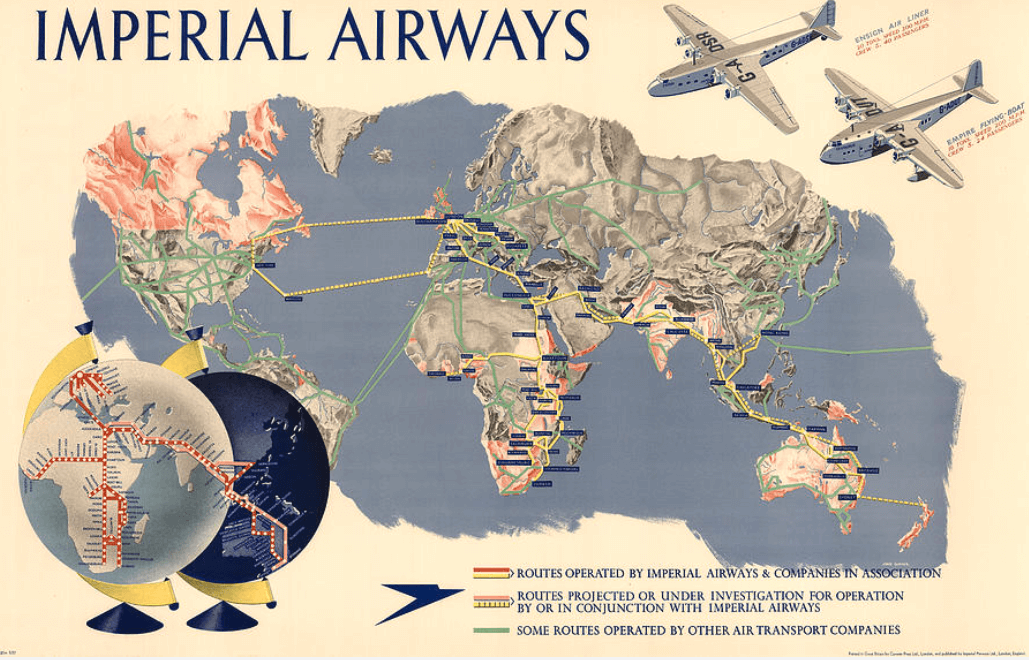 Imperial Airways World Map