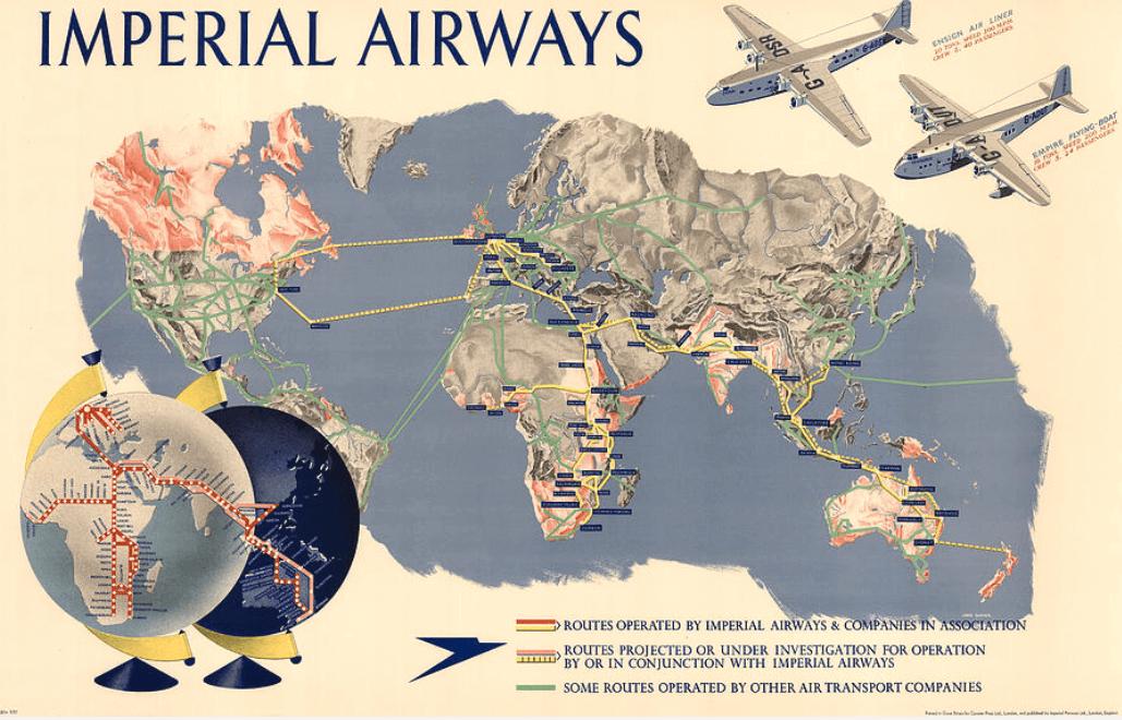 Imperial Airways World Map