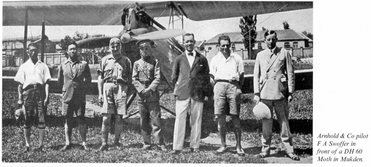 Arnhold Aviation Group At Mukden Image Of FA Swoffer