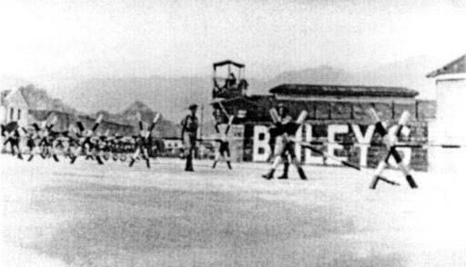Bailey's Shipyard-July 1952-barriers & police patrolling