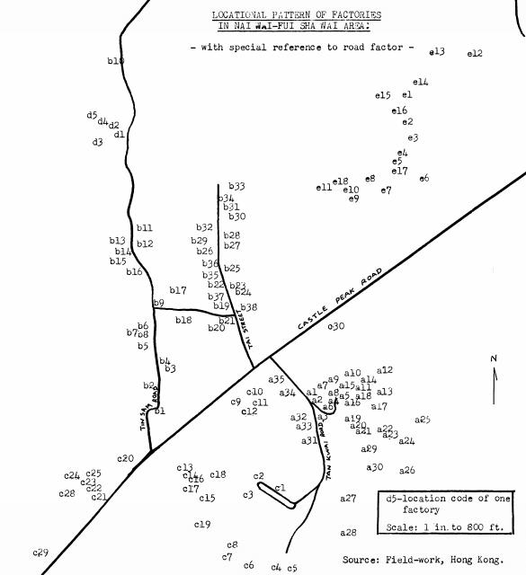 Industries Nai Wai.Fui Shan Wan 1969 dissertation locational pattern of factories