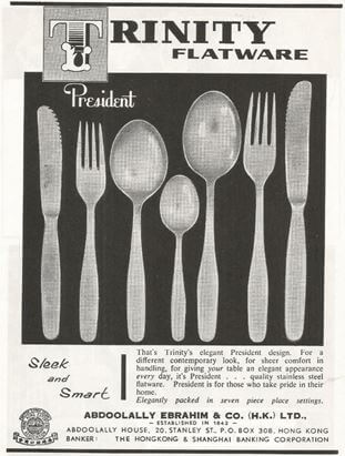 Trinity Tableware 1962 Ad Promoting Its President Brand Of Cutlery York Lo
