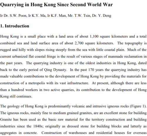 Quarrying In Hk Since World War Two Lord Wilson Heritage Trust Image 1