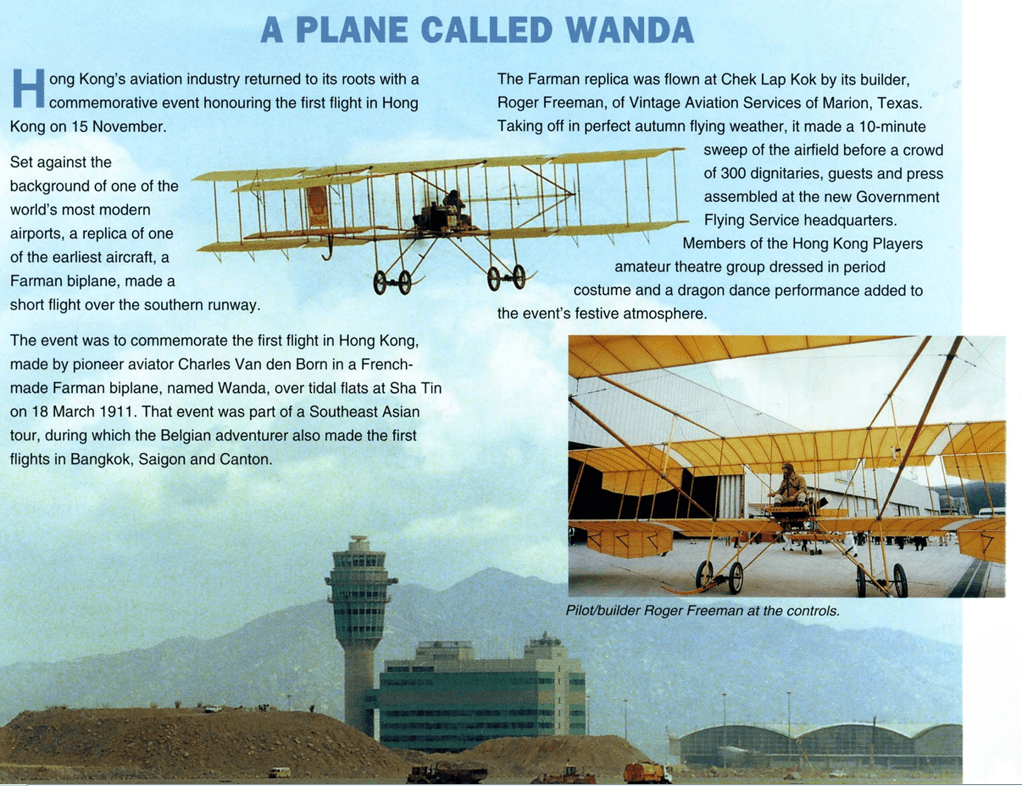 Wanda, A Plane Called, Article, IDJ