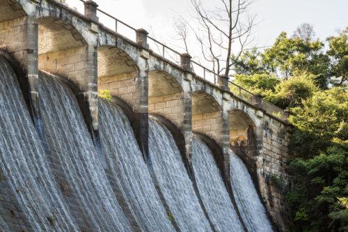 The Dam Wall On The Upper Aberdeen Reservoir, Hong Kong Island.