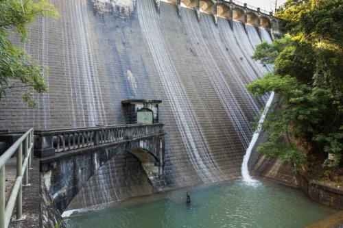 The Dam Wall And Bridge On The Upper Aberdeen Reservoir, Hong Kong Island.