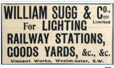 Sugg, William % Company Small Version 1906 Advert Graces Guides