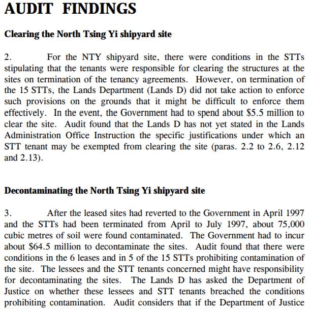 Tsing Yi Shipyards Clearance Report Image 2