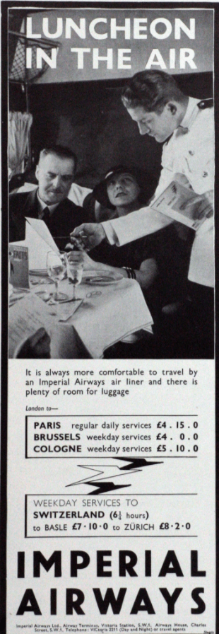 Imperial Airways Advert Source Unknown May 1935 Grace's Guides