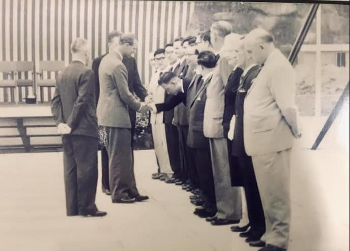 Cheung Brothers Prince Phillip Laying Foundation Stone At Queen Elizabeth Hospital 7th March 1959 From Sam Cheung