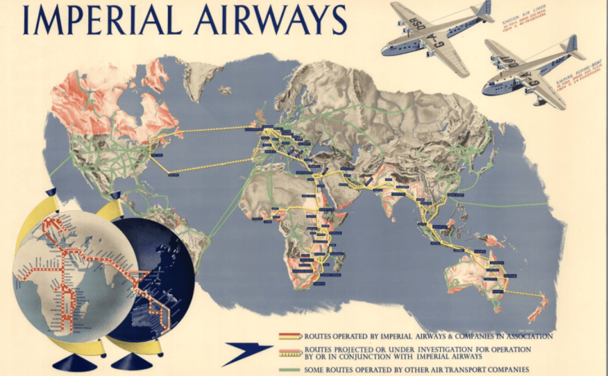 Imperial Airways 1937 Full Map David Rumsey Historical Map Collection