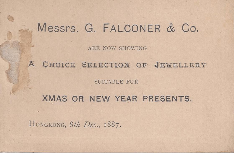 G Falconer Xmas Advert 1887 From Company Website