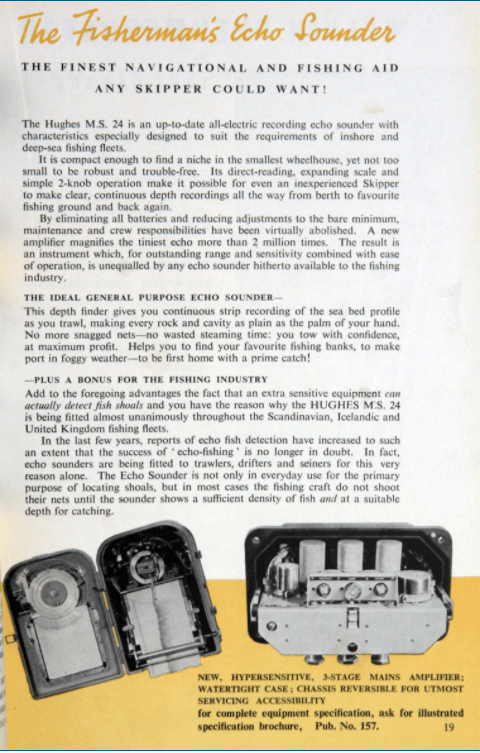 Kelvin Hughes Advert 1951 Courtesy Grace's Guides