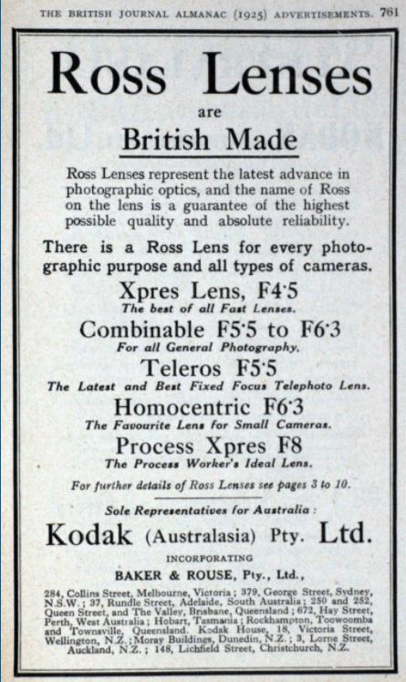 Ross Ltd Advert 1925 Grace's Guides