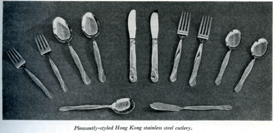Cutlery Manufacturing Page 3 HK Trade Bulletin, Commerce & Industry Dept August 1960 Pp 244 246 HK Memory Project