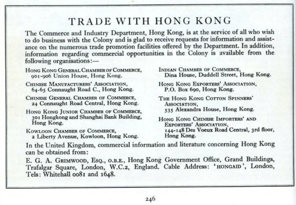 Cutlery Manufacturing Page 6 HK Trade Bulletin, Commerce & Industry Dept August 1960 Pp 244 246 HK Memory Project