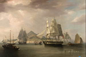 Lintin Island Small Version Opium Ships Edward Duncan After William John Higgins Courtesy Google Arts & Culture