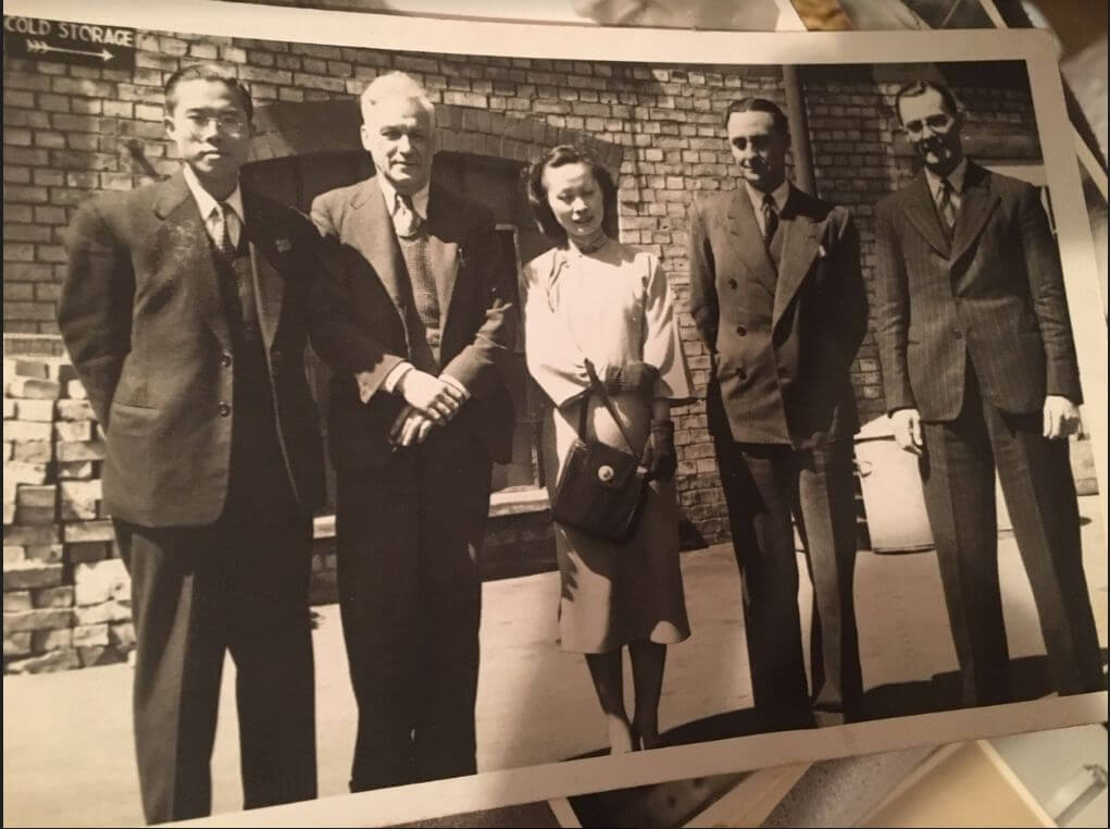 Amoy Canning Photo Of Mr + Mrs T S Wong, Managing Director Of AC With Grandfather Of Michele Cottage, Late 1930s, Early 1940s
