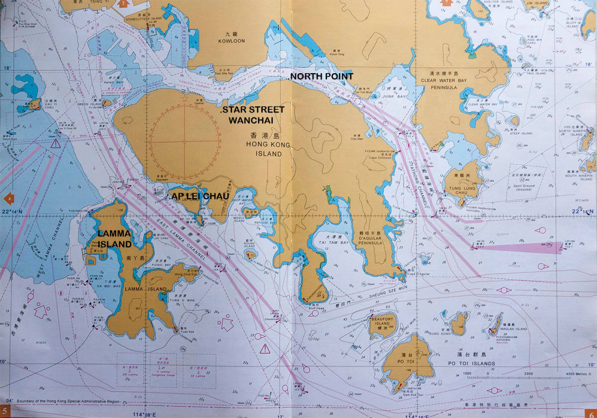 Hong Kong Island Marine Map 2nd version - Andy Cattrell