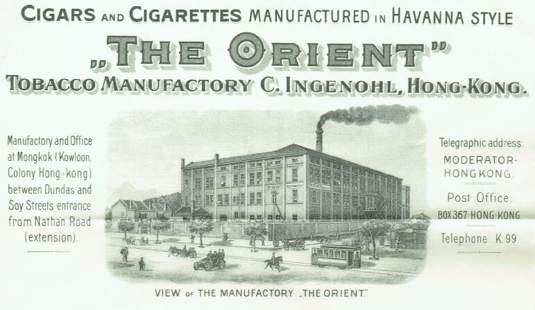 Orient Tobacco Manufactury picture of the factory Edward Schneider