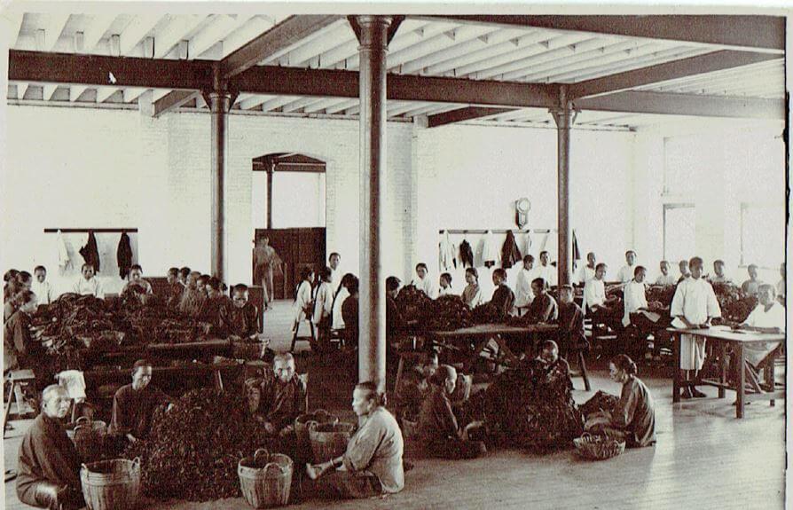 Orient Tobacco Manufactury women on floor with baskets Edward Schneider