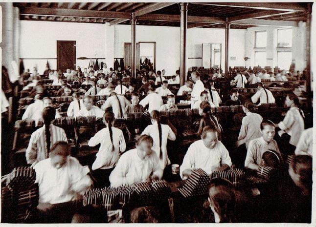 Orient Tobacco Manufactury workers seated Edward Schneider