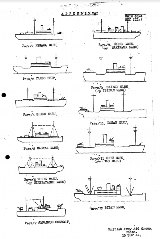 BAAG Report KWIZ #66 Sheet Appendix A1 Ship Outlines