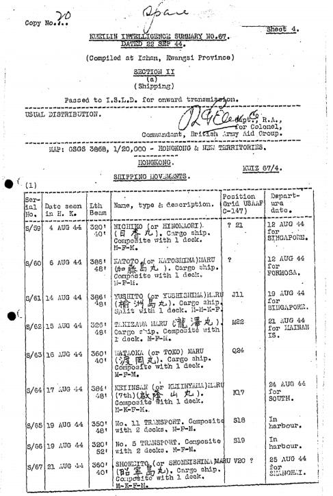 BAAG Report KWIZ #67 A1