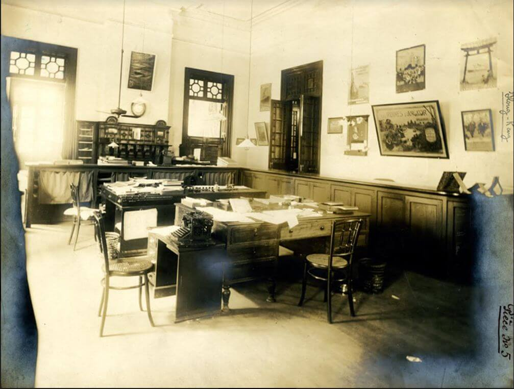 Messageries Maritimes Inside The MM Agency In Hong Kong, Princes Building Circa 1932 Courtesy Of French Lines & Companies Francois Dremeaux