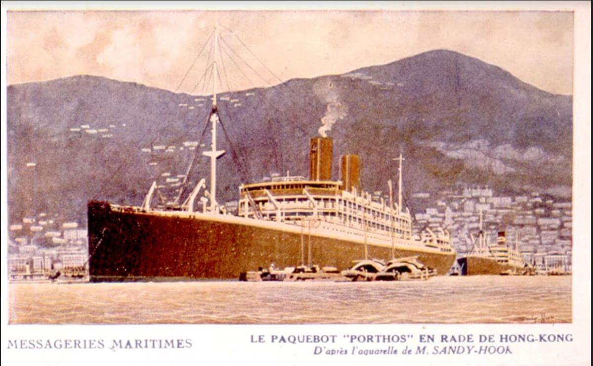 Messageries Maritimes Liner Pathos In Hong Kong Harbour Circa 1930 Private Collection Francois Dremeaux