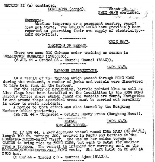 BAAG Report KWIZ #68 C1