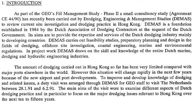 Dredging Netherlands intro extract EO Report No. 17 Sept 1992