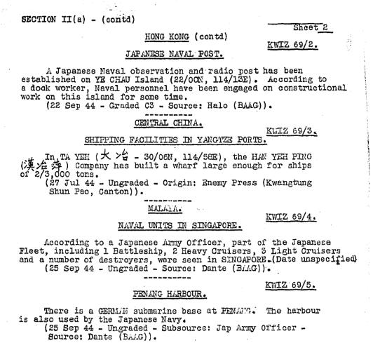 BAAG Report KWIZ #69 B