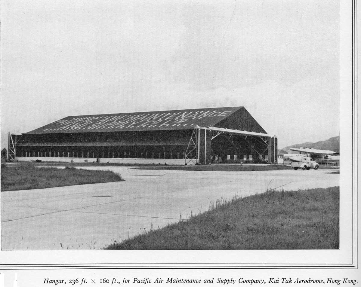Taikoo Docks Fifty Years of Shipbuilding 1954 General Engineering b Kai Tak hangar