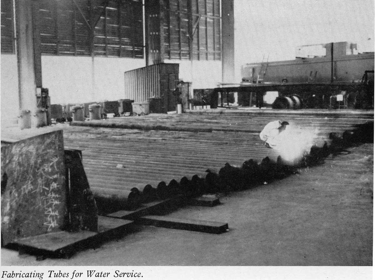 Taikoo Docks Fifty Years of Shipbuilding 1954 General Engineering e Fabricating water tubes