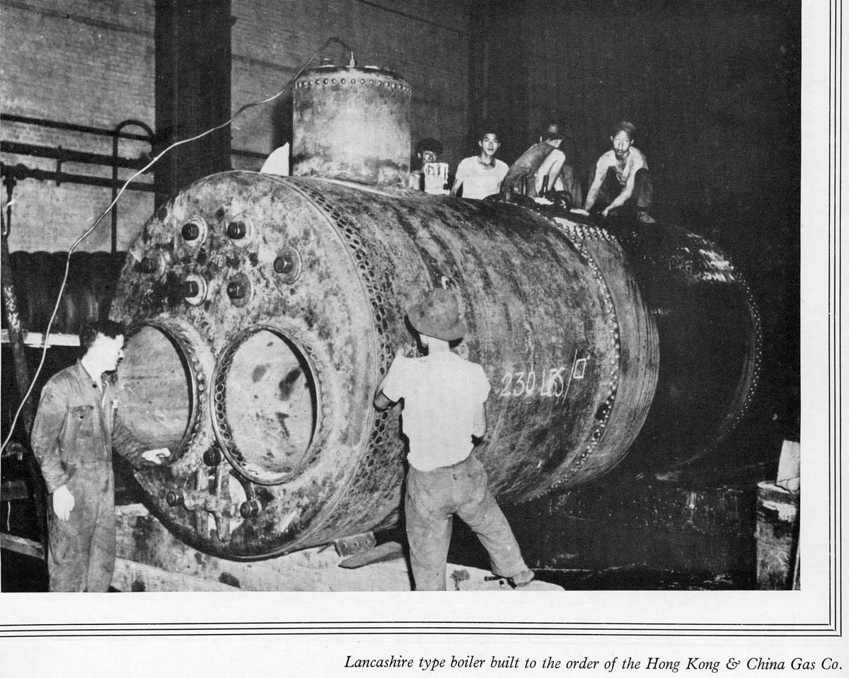 Taikoo Docks Fifty Years of Shipbuilding 1954 General Engineering i HK & China Gas Company boiler