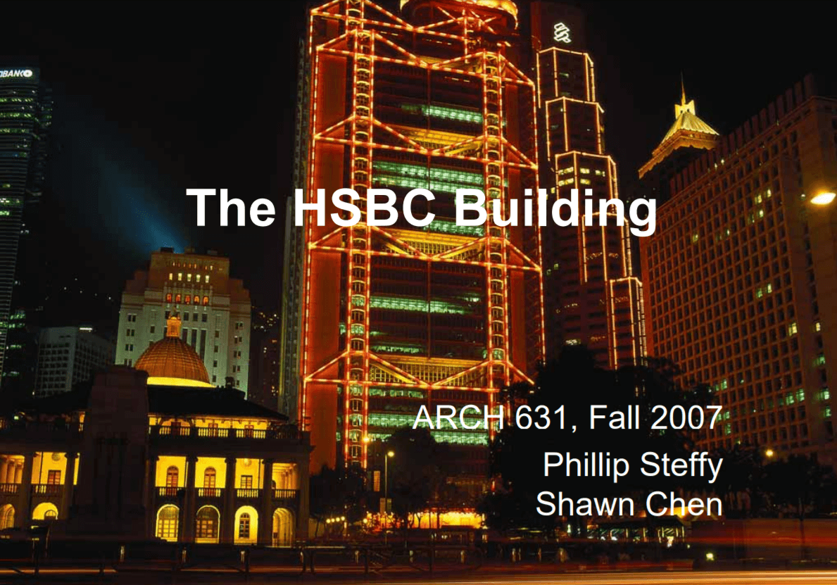 The construction of the HSBC building in Hong Kong – The