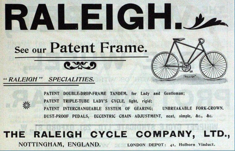 Raleigh Cycles Advert April 1899 Grace's Guides
